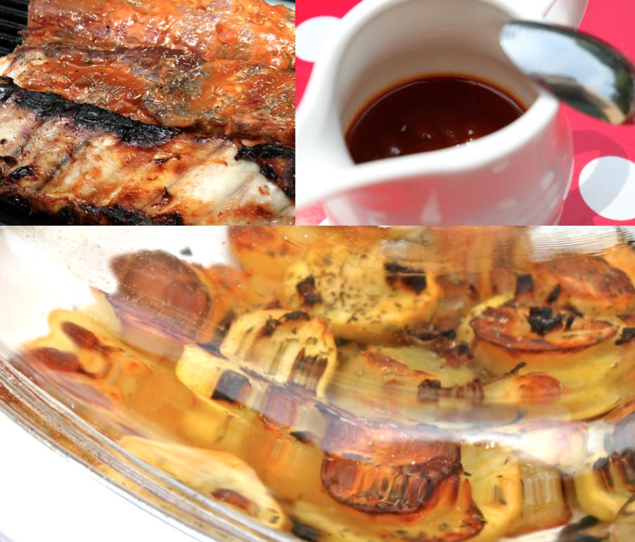 Rib s au barbecue marinade maison et pomme de terres au for Marinade au paprika pour barbecue